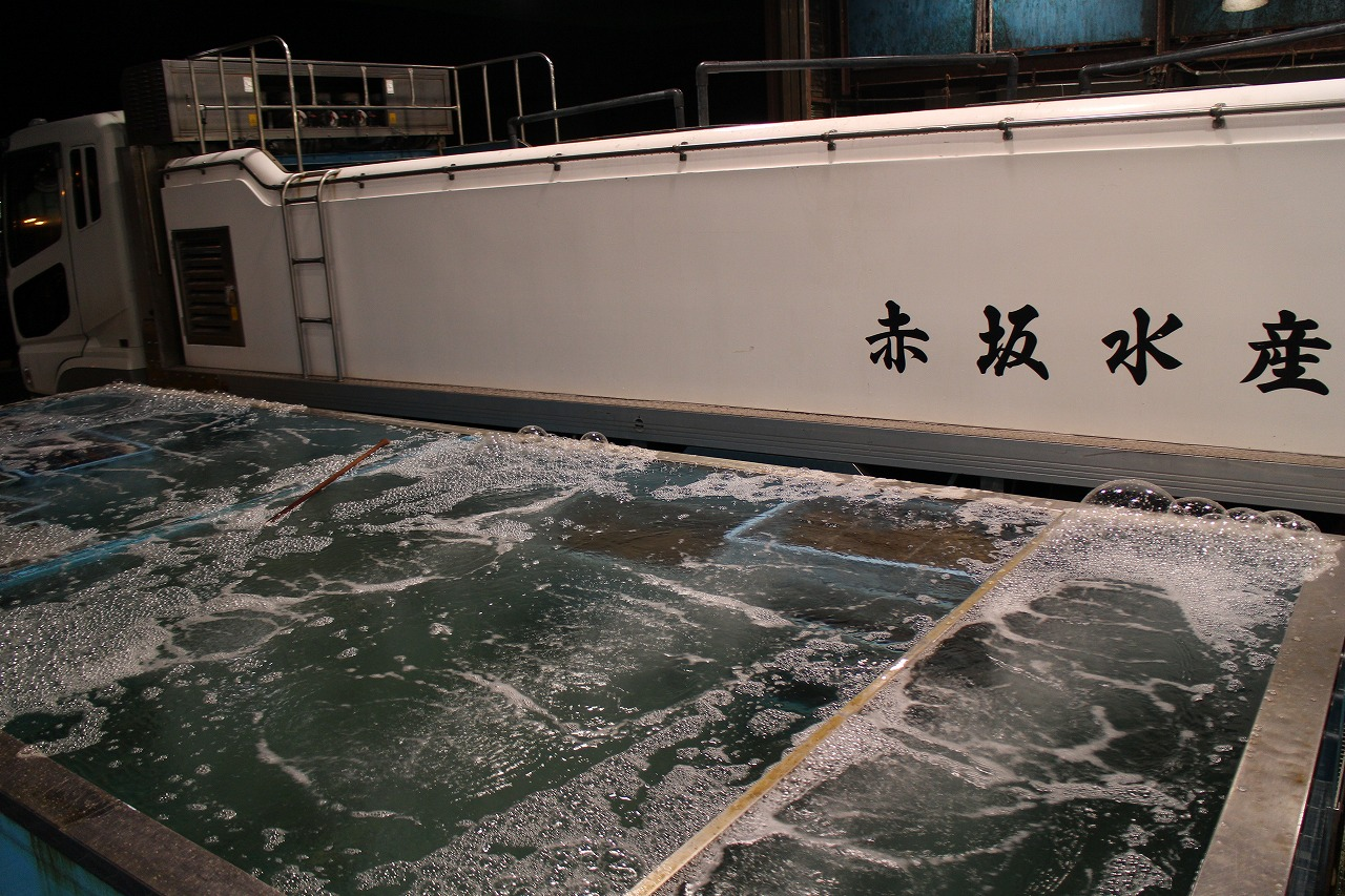 Hiroshima Fisheries Fish Tank and Live Fish Car